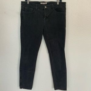 J Brand Skinny Jeans with Zippers at Ankles